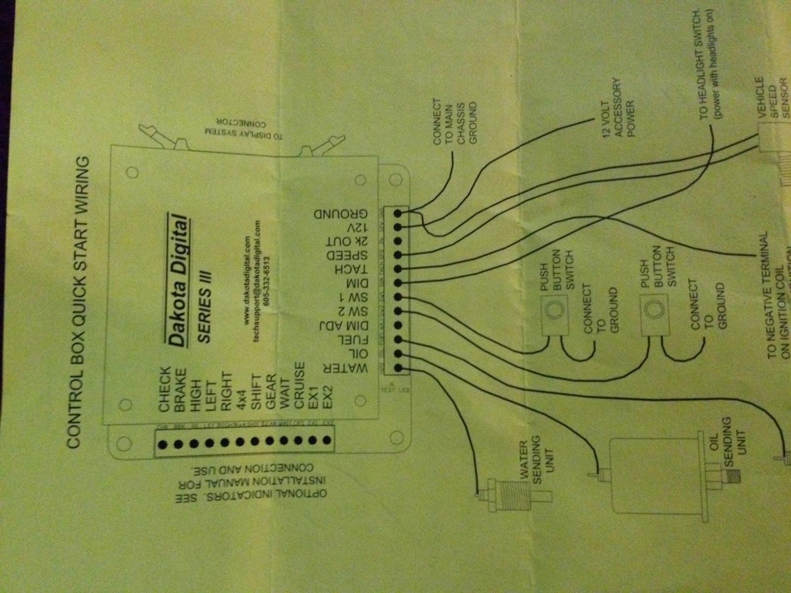 dakota digital wiring diagram  | pro-touring.com