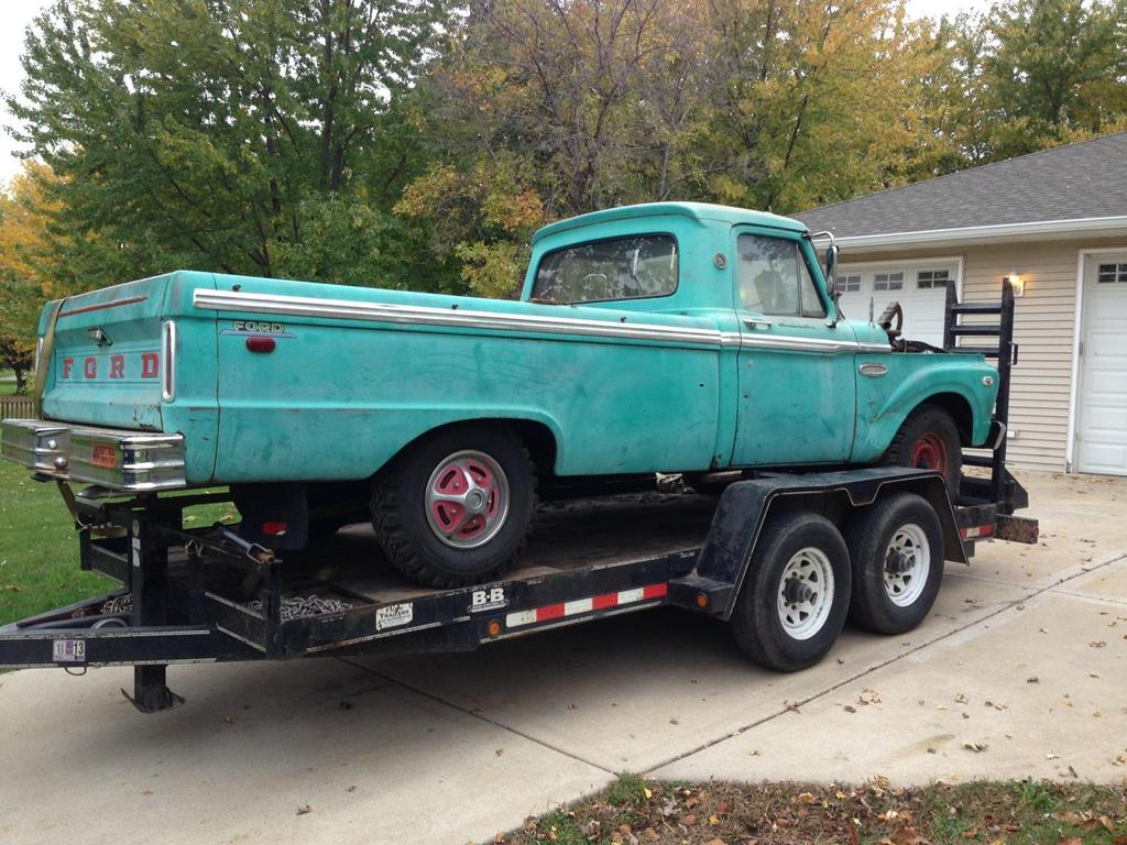 66 Ford F100 Amp 2004 Crown Vic Body Swap