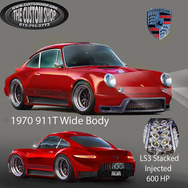Porsche 996 Engine Hp: Porsche 918 Wide Body RSR LS3 1970 Build Sema Project