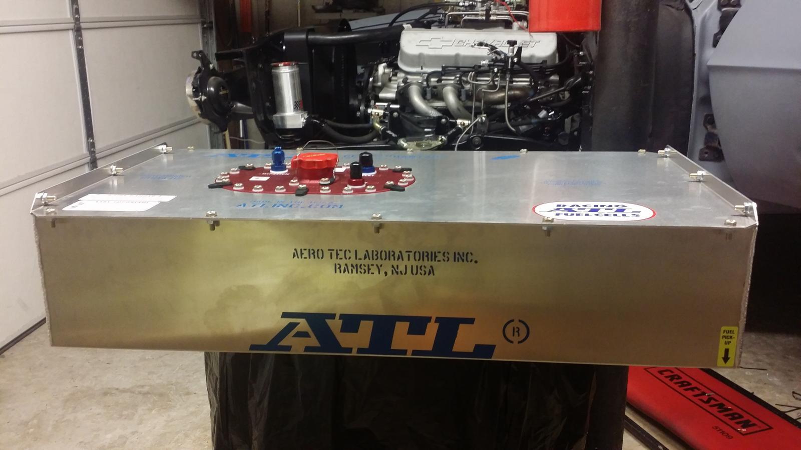 Brand new ATL ALUMINUM Bantam series 17 gallon fuel cell