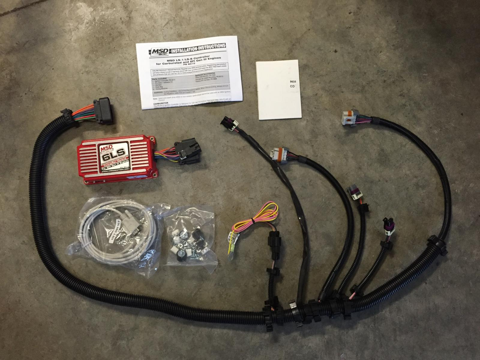 new, unopened, msd cut-to-fit ls spark plug wires - $100 shipped