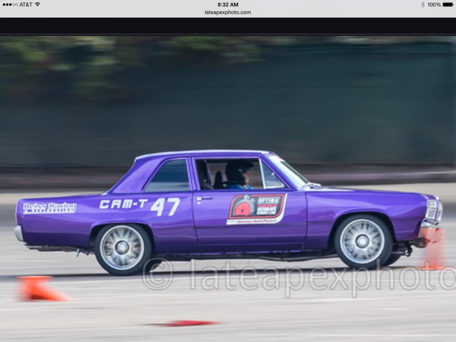 1967 Plymouth Valiant Sorted 2015 Autocross Winner Usca