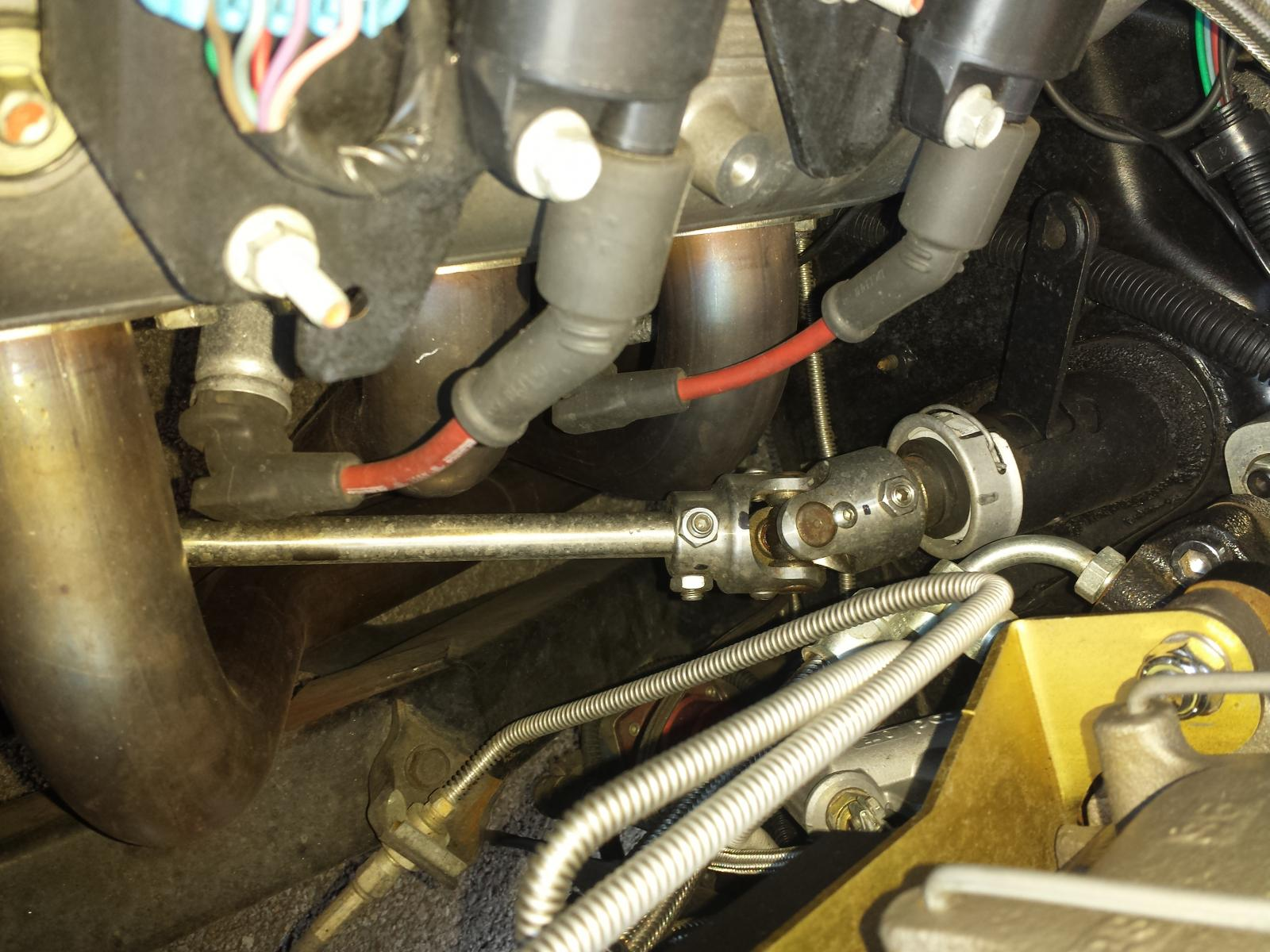 steering column rebuild and modification on 77 trans am- 2nd gen