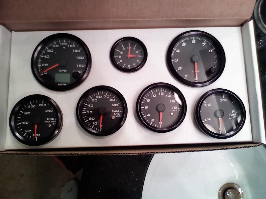 Speed Hut Gauges. Complete Set