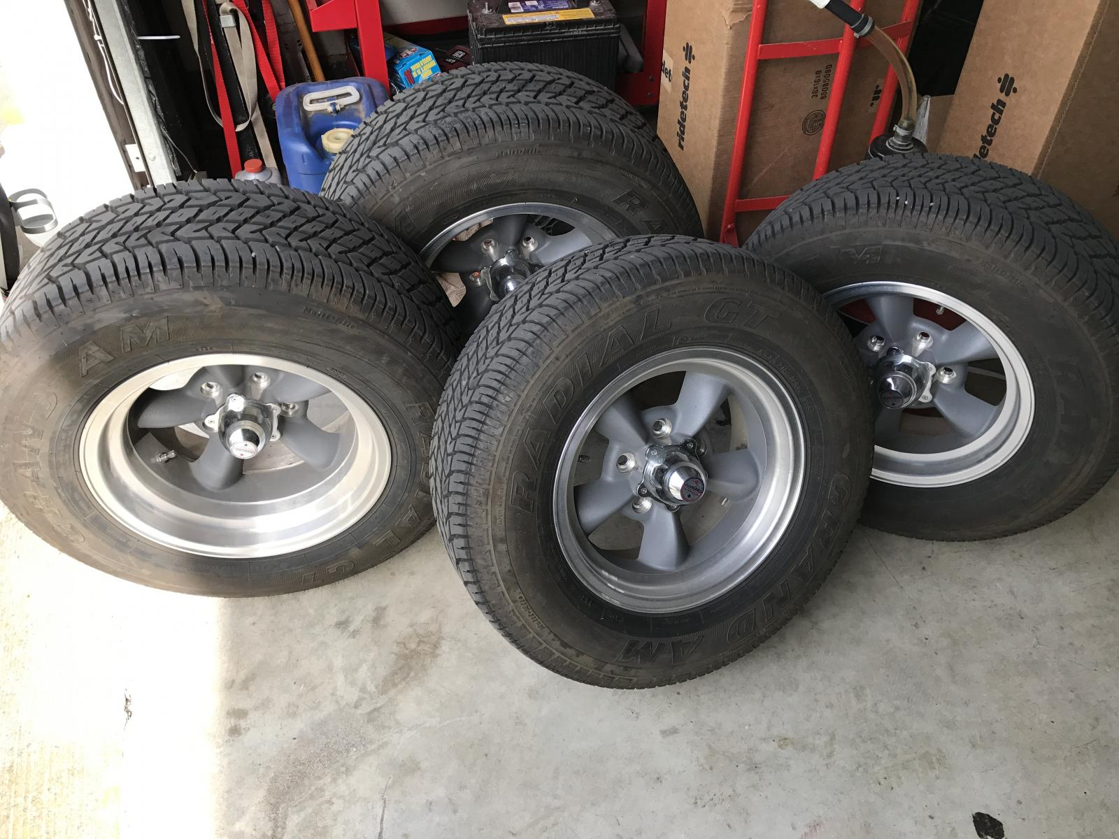 American Racing Torque Thrust D Wheels Tires 5x4 75
