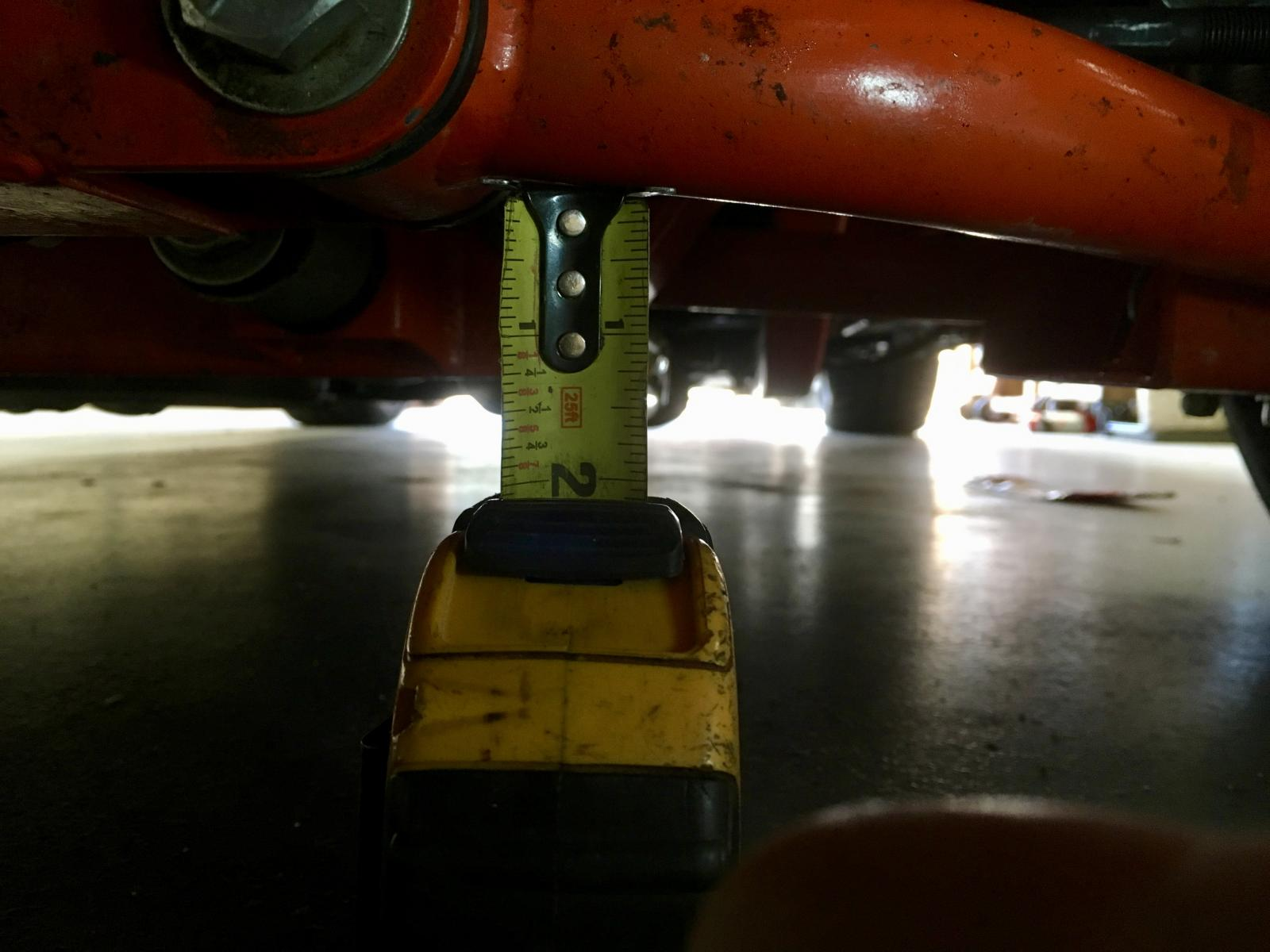 1967 Camaro Heidts Pro-G subframe ride height too low  Help!!