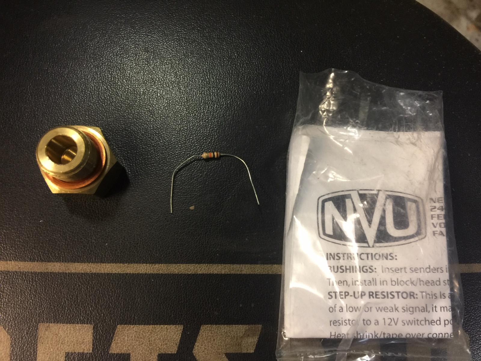 LS swap New Vintage USA Oil pressure sender adapter and Step