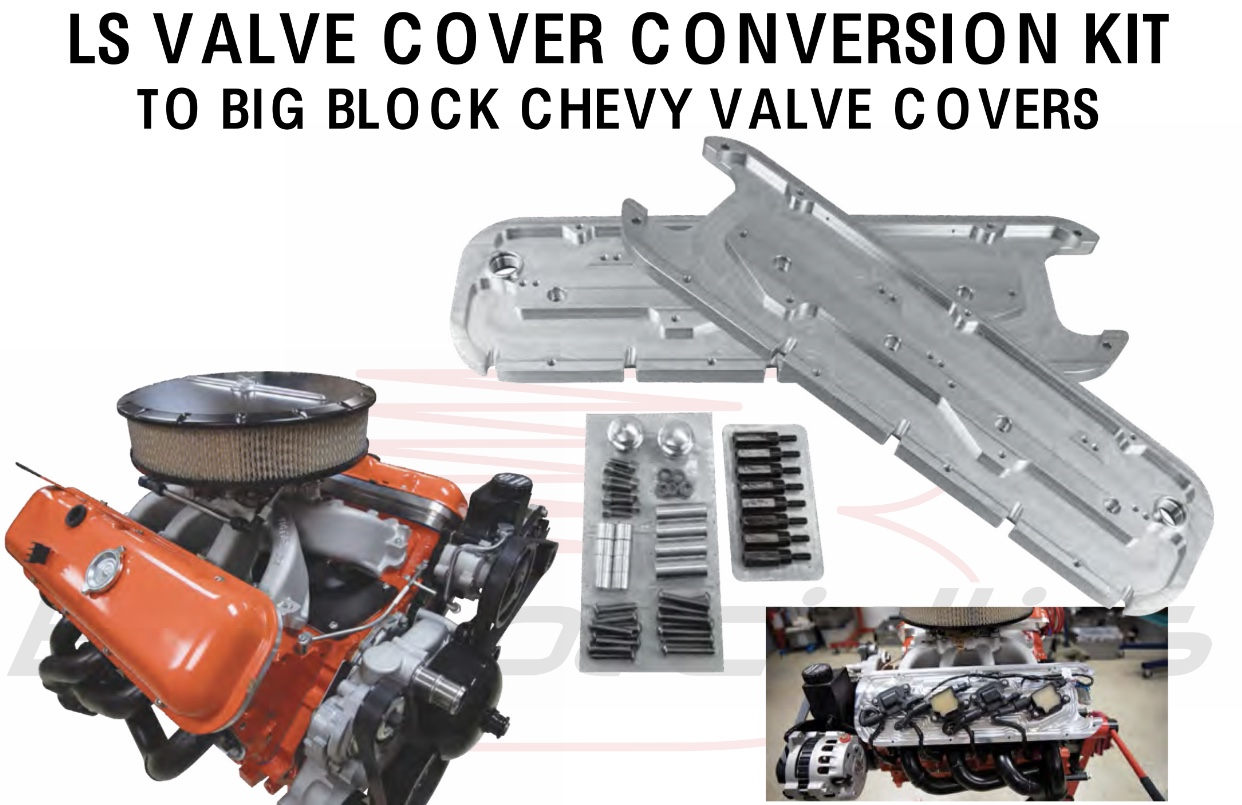 Retro** LS big block valve cover adapters