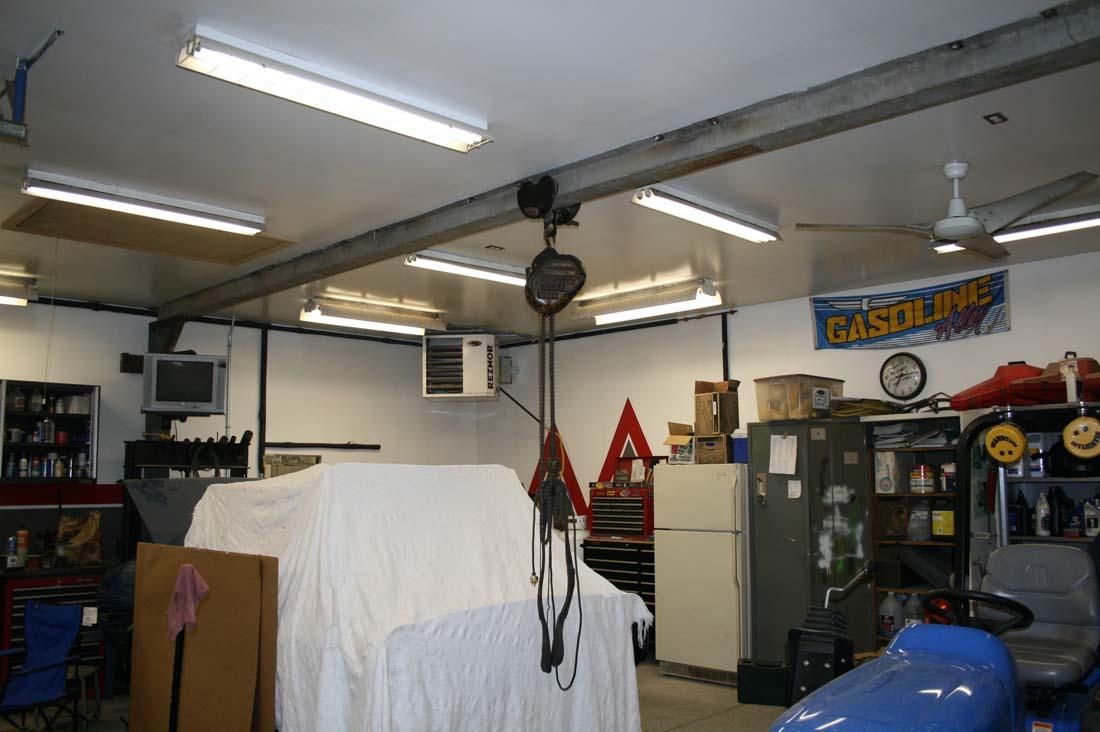 Overhead Shop Crane In The Garage