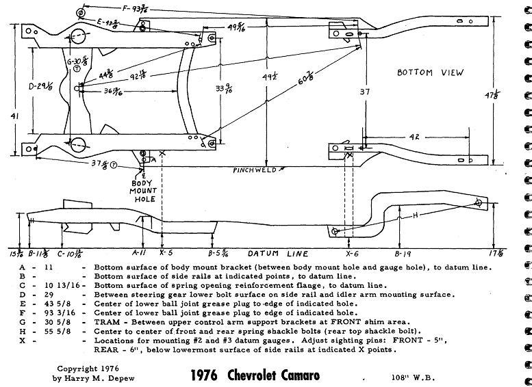 73-74 Nova, Apollo, Ventura subframe dimensions?