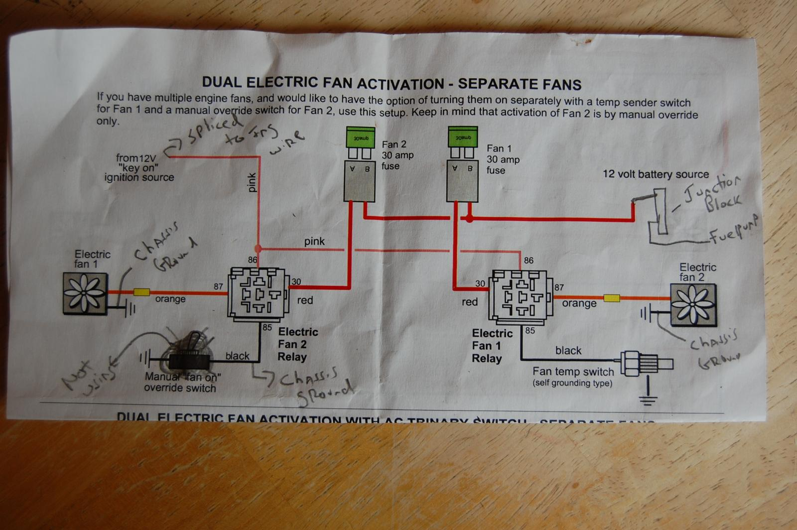 dual spal fans issue attached images