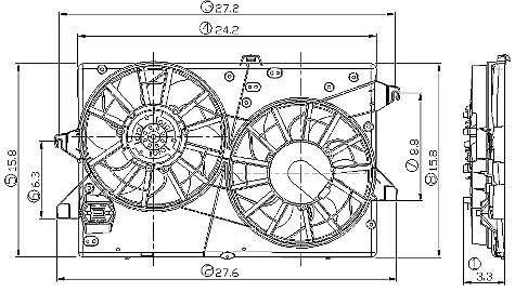 OEM cooling fan to use instead of a SPAL dual 12
