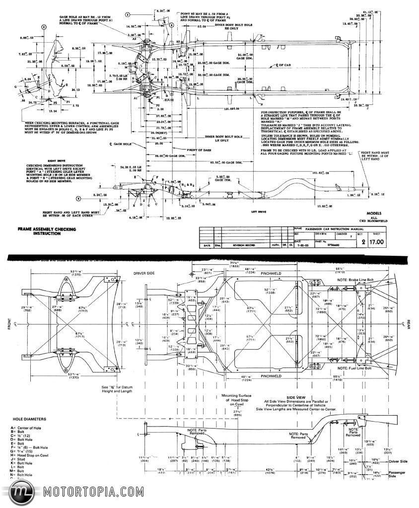 C4 C5 C5 Amp 1st Gen F Body Chassis Dimensions