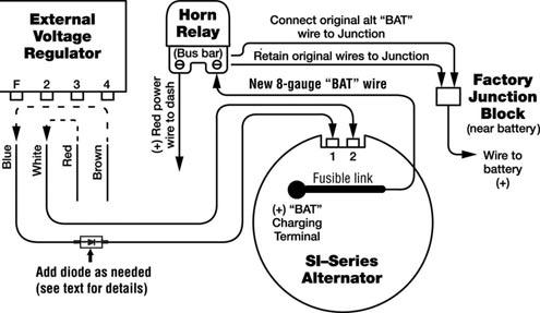 wiring a 10si alt 3 Wire Alternator Wiring Diagram GM Alternator Wiring Diagram