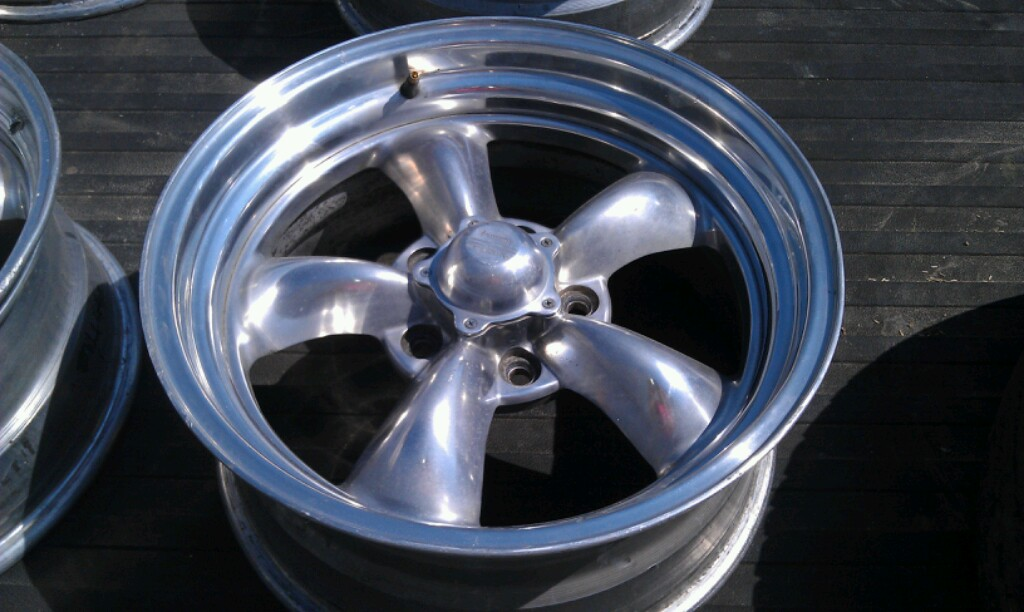 17x8 American Racing Torque Thrust Polished Wheels 5x5 250
