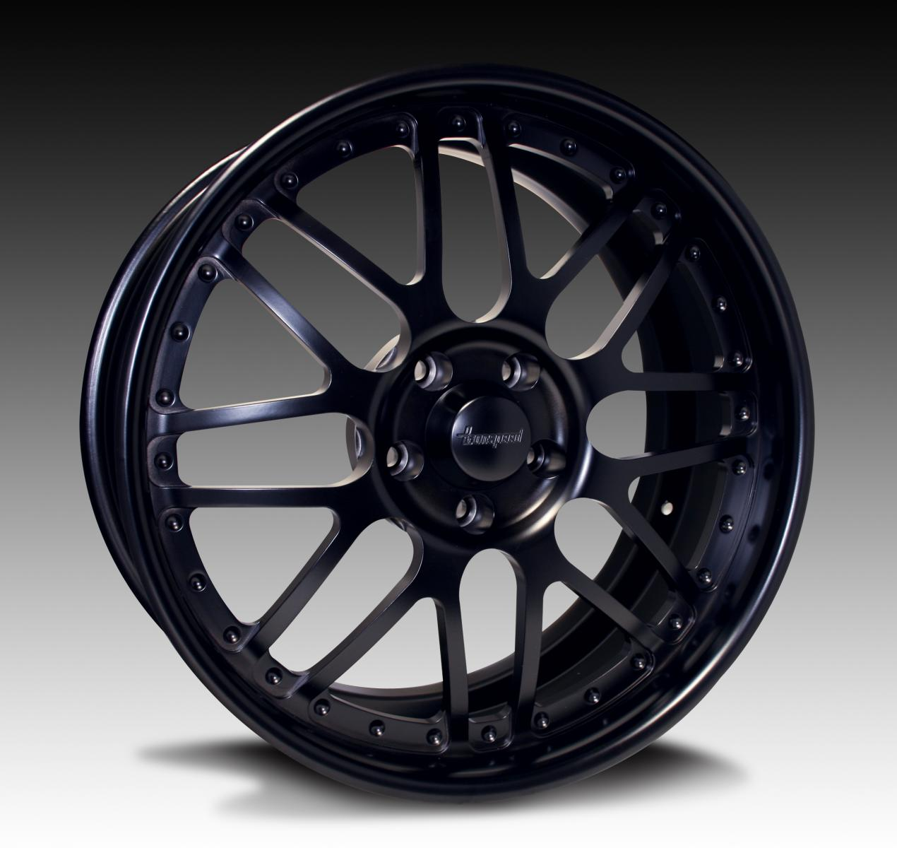 """Pro Touring Wheels And Tires >> bonspeed Wheels """"GTB"""" Shown in Semi-Gloss Black"""
