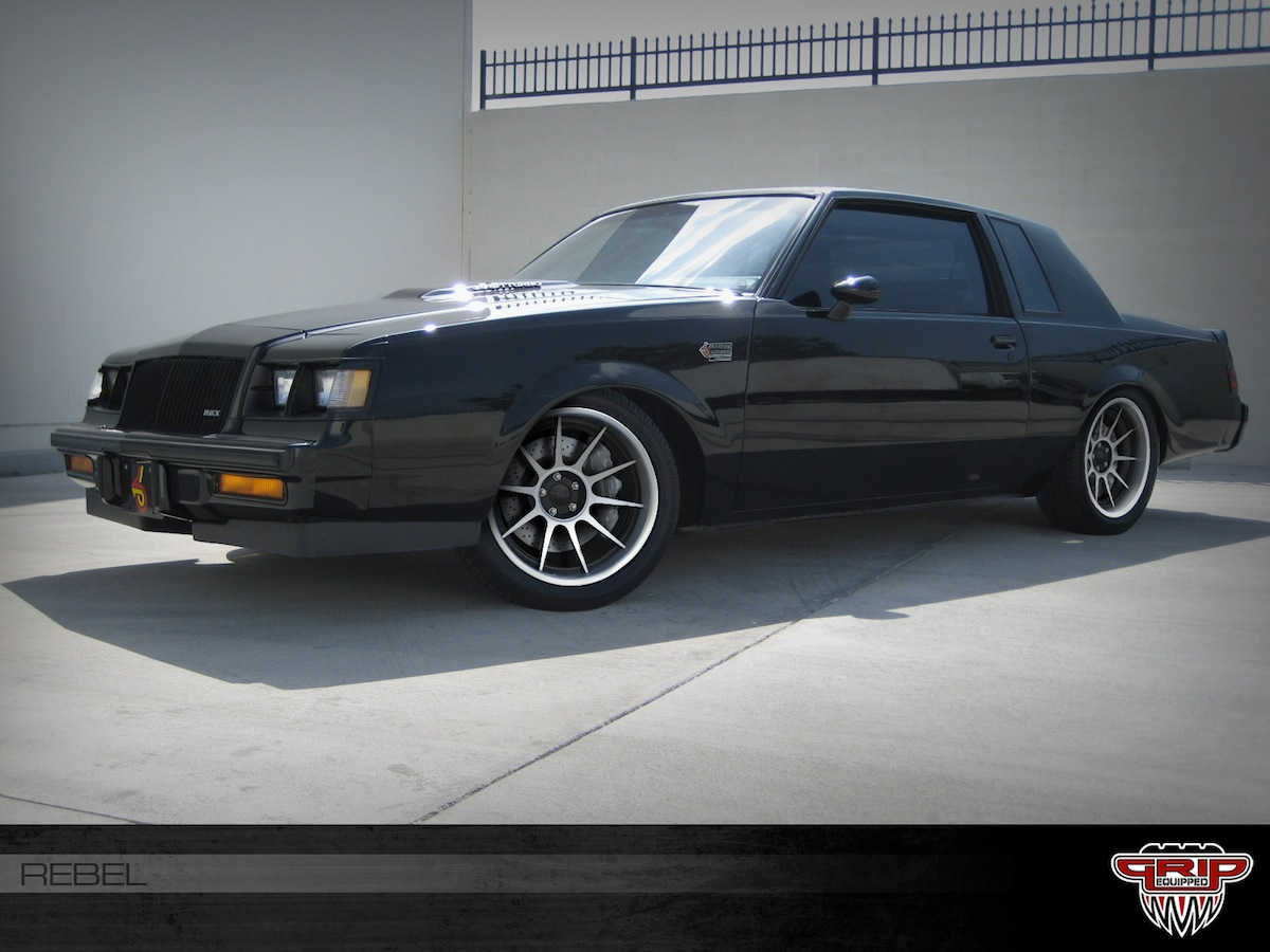 grip equipped rebel wheel on a buick grand national. Black Bedroom Furniture Sets. Home Design Ideas