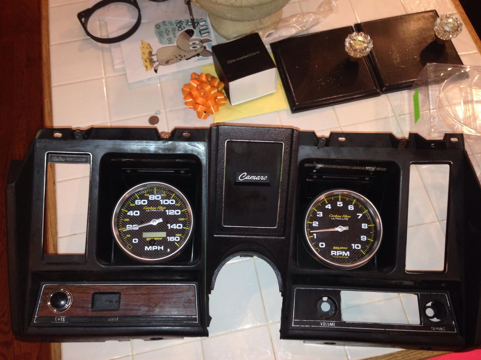 1969 Camaro Stock Dash 5 Quot Gauges