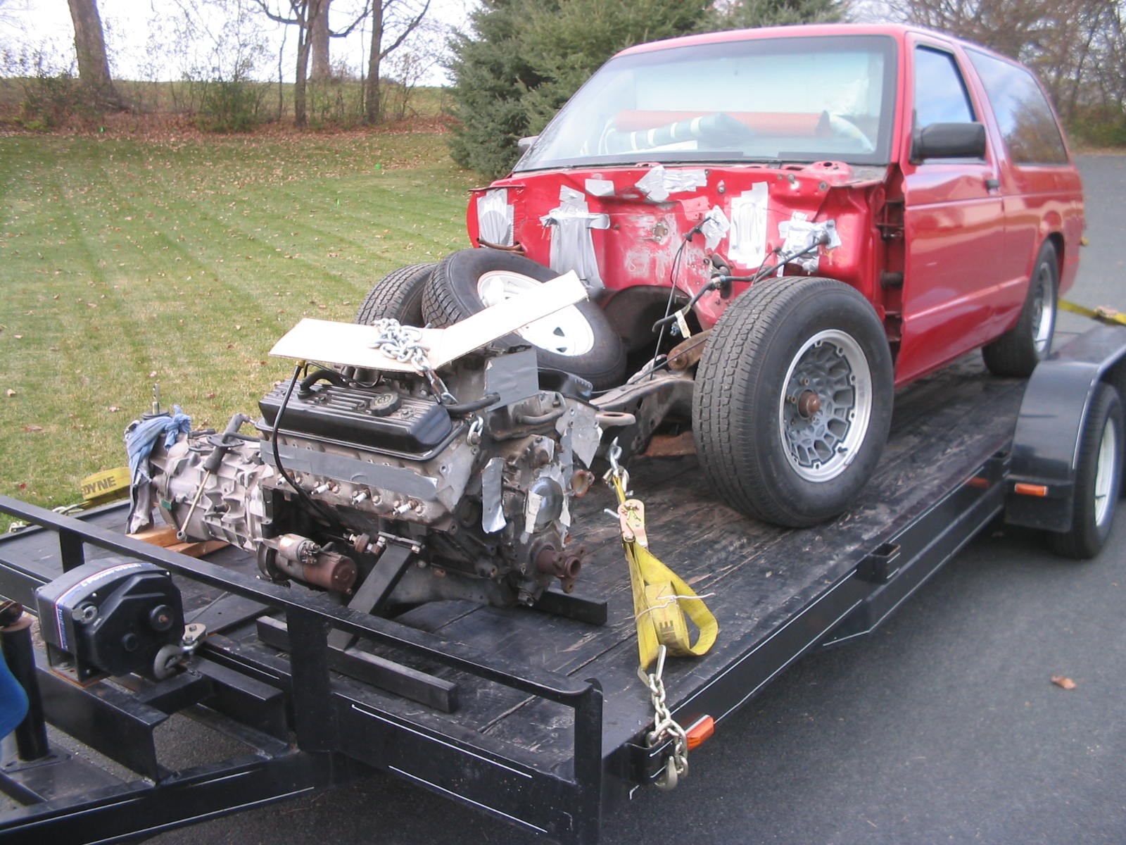 Name:  Jimmy and LT1 on trailer.JPG Views: 2154 Size:  294.7 KB