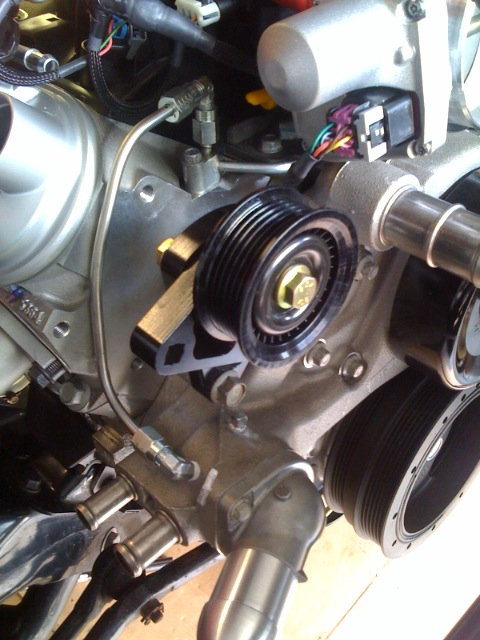 does someone make a thinner water pump pulley? for ...